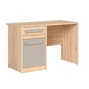 NAMEK psací stůl BIU1D1S, buk iconic/šedá