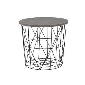 Odkládací stolek MARIFFA, šedá/černá