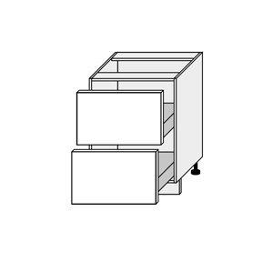 SILVER+, skříňka dolní D2H 60, korpus: bílý, barva: latte