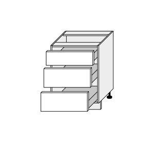SILVER+, skříňka dolní D3A 60, korpus: bílý, barva: sonoma