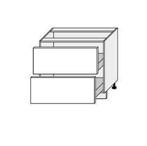 SILVER+, skříňka dolní D2A 90, korpus: lava, barva: latte