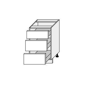 SILVER+, skříňka dolní D3H 50, korpus: bílý, barva: black pine
