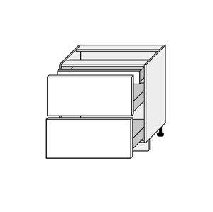 SILVER+, skříňka dolní D2A 80/1A, korpus: bílý, barva: latte