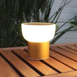 ALMA LIGHT BARCELONA LED venkovní světlo Patio, zlatá, 16 cm 1x USB