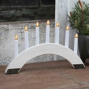 STAR TRADING Bílý svíčkový lustr Viking Bow 7 zdrojů