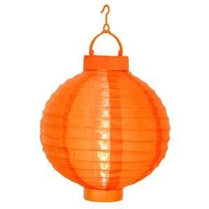 Best Season Oranžový solární lampion Jerrit s LED světlem