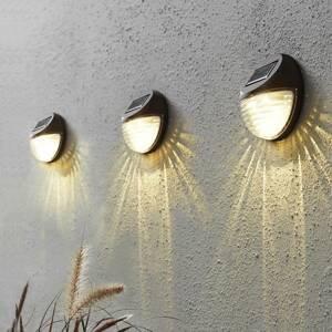 Best Season Fency - LED solární nástěnné svítidlo v sadě 3 ks
