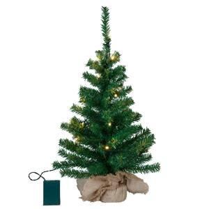STAR TRADING Malý LED strom Toppy v pytli z juty