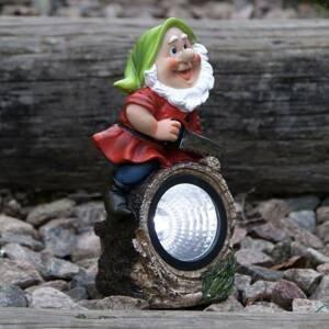 Best Season LED solární světlo Gnomy, dřevařský řez