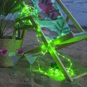 Best Season LED světelná hadice Tuby, na baterii, zelená