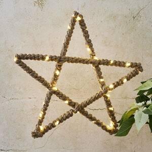 STAR TRADING Jutta LED dekorační hvězda s jutovým lankem