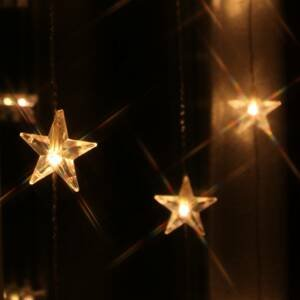 Best Season Deset pramenů - LED světelná clona Star 20 žárovek