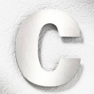 CMD Čísla domů z nerezové oceli velká - písmeno c