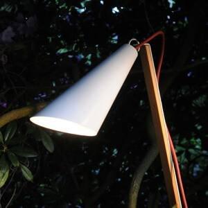 Domus Dekorativní lampa Pit Out venkovní, bílá