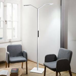 Luctra Luctra Floor Twin Linear LED stojací lampa bílá