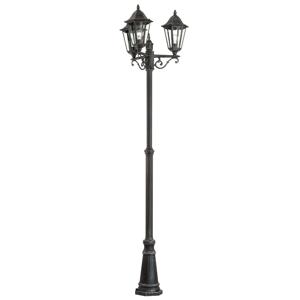 Stožárové svítidlo Navedo z hliníku, třížárovkové