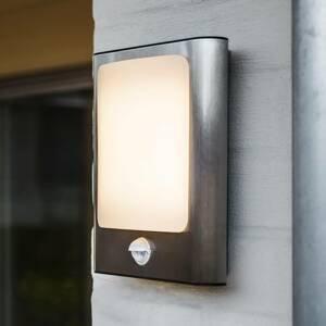 Eco-Light Nerezové LED nástěnné světlo se senzorem
