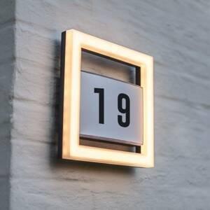 Eco-Light LED osvětlení čísla domu Alice bez senzoru