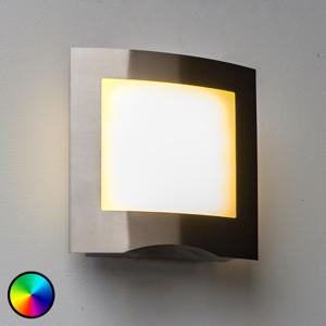 Eco-Light WiZ LED venkovní nástěnné světlo nerez Farell