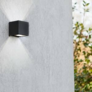 Eco-Light LED venkovní nástěnné světlo Gemini černá 8,8 cm