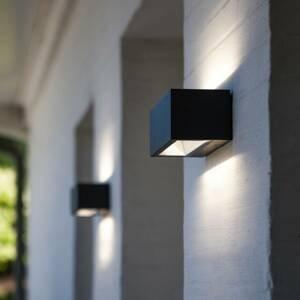 Eco-Light LED venkovní nástěnné světlo Gemini černá 22 cm