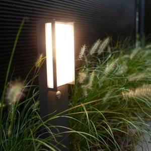 Eco-Light LED osvětlení cesty Qubo antracit, detektor pohybu