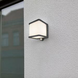 Eco-Light LED solární nástěnné světlo Doblo, senzorem pohybu