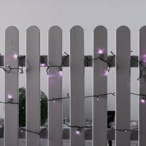 Esotec LED solární světelný řetěz, růžová