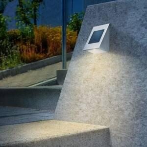 Esotec Solární nástěnné světlo Shine duo color, nerez
