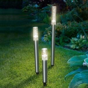 Esotec Sada 3 ks LED solární tyče Trio Sticks