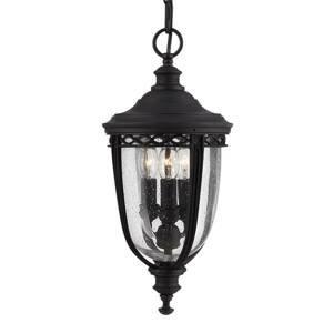 Elstead Závěsné světlo English Bridle venkovní, černá