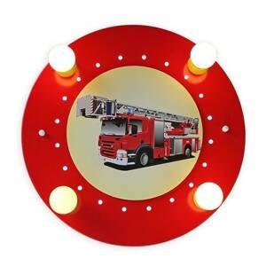 Elobra Stropní světlo hasičské auto červenožlutá 4 zdroje