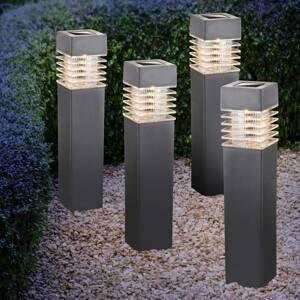 Globo LED solární svítidlo 33269-4, 4dílná sada, šedé