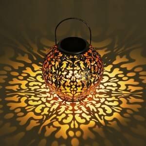 Globo LED solární dekorativní koule 36742 stříbrná