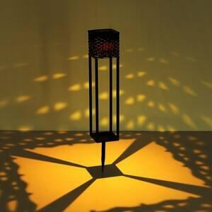 Globo LED solární světlo 36850B rattan hnědá s hrotem
