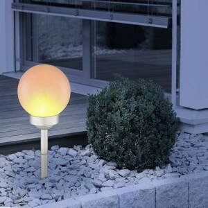 Globo LED solární světlo 3375F s bodcem, výška 43 cm