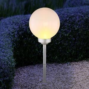 Globo LED solární světlo 3376F s bodcem, výška 62 cm