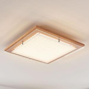 Lampenwelt.com Dřevěné stropní LED svítidlo Cattleya, 52 cm