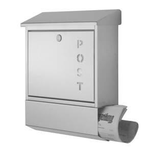 Heibi Poštovní schránka York nerez, přihrádka na noviny