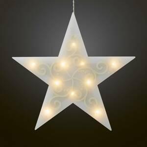 Hellum LED dekorační hvězda 5cípá, bílá světelný řetěz