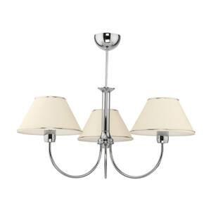 JUPITER Lustr London chrom/krémový, tři žárovky