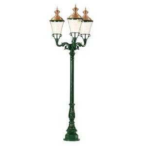 Třízdrojová pouliční svítilna Parijs