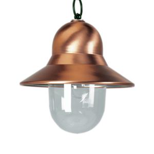 K. S. Verlichting Měděné venkovní závěsné světlo Toscane, zelená