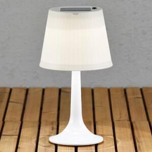 Konstmide Bílá LED solární stolní lampa Assisi Sitra