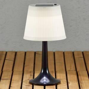 Konstmide Černá LED solární stolní lampa Assisi Sitra
