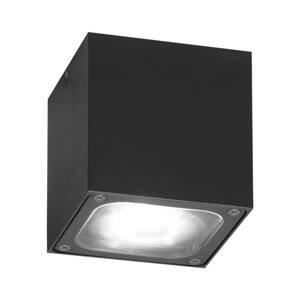 Konstmide LED stropní světlo Cesena ve tvaru kostky antracit