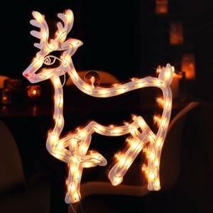 Konstmide CHRISTMAS Okenní silueta Sob LED pro interiér 50 zdrojů