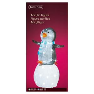 Kaemingk LED figurka tučňák na sněhové kouli venkovní