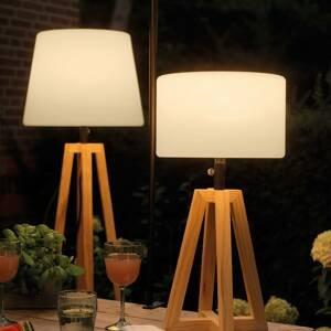 Kaemingk LED solární stojací lampa 895191 stojan z borovice
