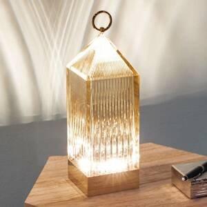 Kartell Kartell Lantern LED stolní lampa, jantarová IP54